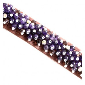 Beaded Amethyst Dog Collar_big1