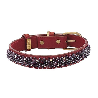 Beaded Amethyst Dog Collar_big