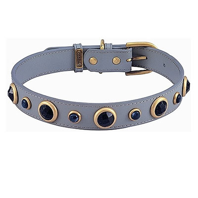 Imperial Faceted Blue Sand Stone & Sodalite Dog Collar-orig