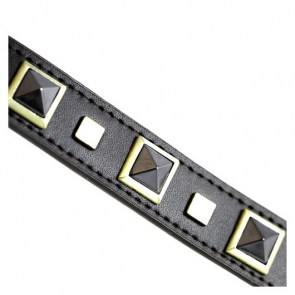 Rock & Roll Hematite Dog Collar_big1