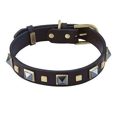 Rock & Roll Hematite Dog Collar_big